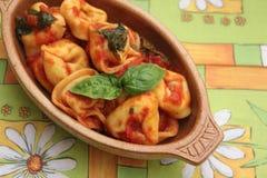 意大利式饺子 库存照片