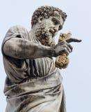 意大利彼得圣徒雕象梵蒂冈 免版税库存照片