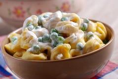 意大利意大利式饺子意大利面食 库存照片