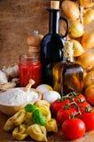 意大利意大利式饺子 库存图片