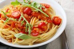 意大利意大利酱蕃茄 免版税库存图片