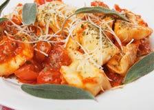 意大利意大利面食意大利式饺子 库存图片