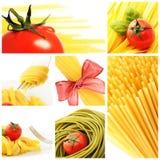 意大利意大利面食拼贴画 库存图片
