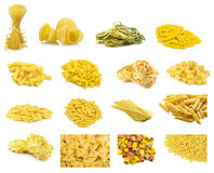 意大利意大利面食拼贴画  图库摄影