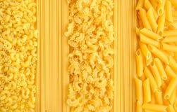 意大利意大利面食收集背景 免版税库存照片
