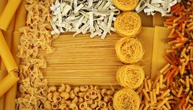 意大利意大利面食背景 免版税库存图片