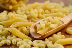 意大利意大利面食 干意大利面食 库存图片