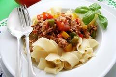 意大利意大利面食 图库摄影