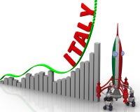 意大利成功图表  免版税图库摄影