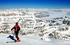 意大利手段滑雪 免版税库存照片