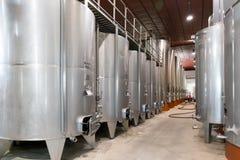 意大利托斯卡纳葡萄酒酿造桶 图库摄影