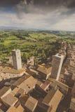 意大利托斯卡纳 San Gimignano 库存图片