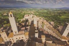 意大利托斯卡纳 San Gimignano 免版税库存照片