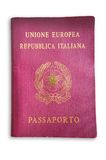 意大利护照 库存图片