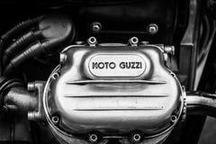 意大利摩托车Moto Guzzi V7的引擎的细节 免版税库存图片