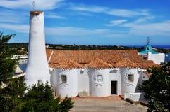 意大利撒丁岛典型的教会 免版税库存图片