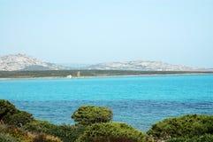 意大利撒丁岛海运stintino 图库摄影