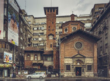 意大利教会,布加勒斯特,罗马尼亚 库存照片