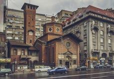 意大利教会,布加勒斯特,罗马尼亚 免版税库存照片