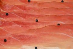 意大利斑点,熏制的鲜美火腿 库存照片