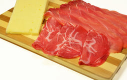 意大利斑点coppa和亚细亚哥乳酪 免版税库存图片