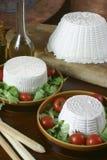 意大利新鲜的干酪 免版税库存照片