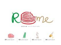 意大利旅行集合,罗马,罗马斗兽场 库存照片