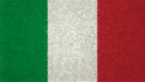 意大利旗子、绿色、白色和红色 3d柜栏图象牌照 库存照片