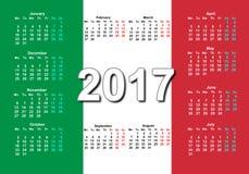 意大利日历2017年 图库摄影