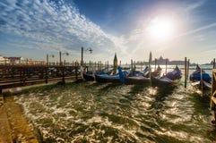意大利日落威尼斯 免版税图库摄影