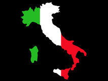 意大利映射 库存照片