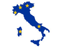 意大利映射 库存例证