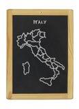 意大利映射 库存图片