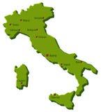 意大利映射 免版税库存照片