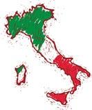 意大利映射 免版税库存图片