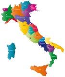 意大利映射 免版税图库摄影