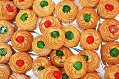 意大利曲奇饼背景 免版税图库摄影
