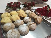 意大利曲奇饼 库存照片