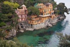 意大利最近的portofino海运 免版税库存照片