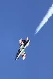 意大利杂技队Frecce Tricolori的MB-339 库存照片