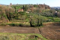 意大利村庄vinci 库存照片