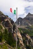 意大利标志在阿尔卑斯 图库摄影