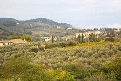 意大利横向传统的toscana 库存照片