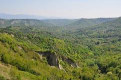 意大利横向山 库存图片