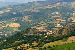 意大利横向行军montefeltro 免版税库存图片