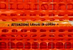 意大利橙色安全网 免版税库存照片