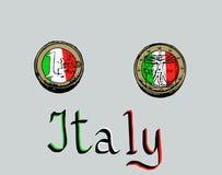 意大利欧元 库存照片