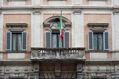 意大利欧洲在历史老大厦的联盟标志街道的罗马意大利2013年 免版税库存图片