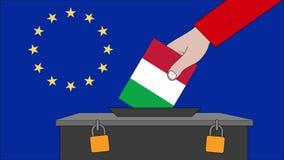 意大利欧洲选举的投票箱 库存例证