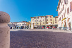 意大利正方形 免版税库存照片